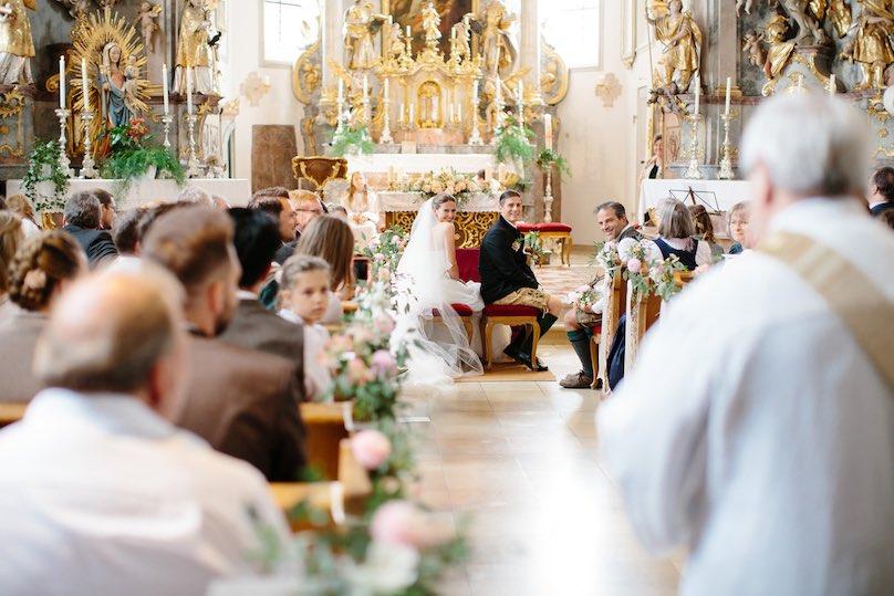 Kirche Hochzeitsdeko