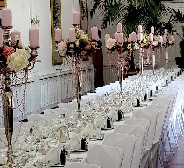 Hochzeitsdekoration Schloss Nymphenburg München
