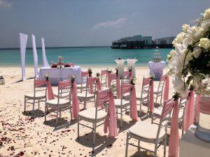 Bestuhlung Hochzeit Malediven