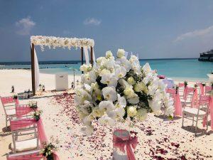 Blumenstrauß Hochzeit Malediven