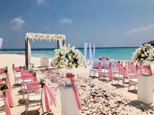Heiraten am Strand auf den Malediven
