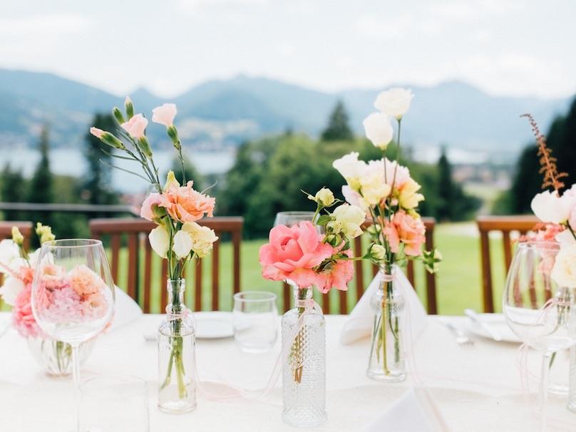 Hochzeit im Freien Tischdeko