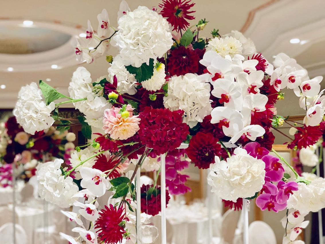 Hochzeitsfloristik Gesteck Orchideen