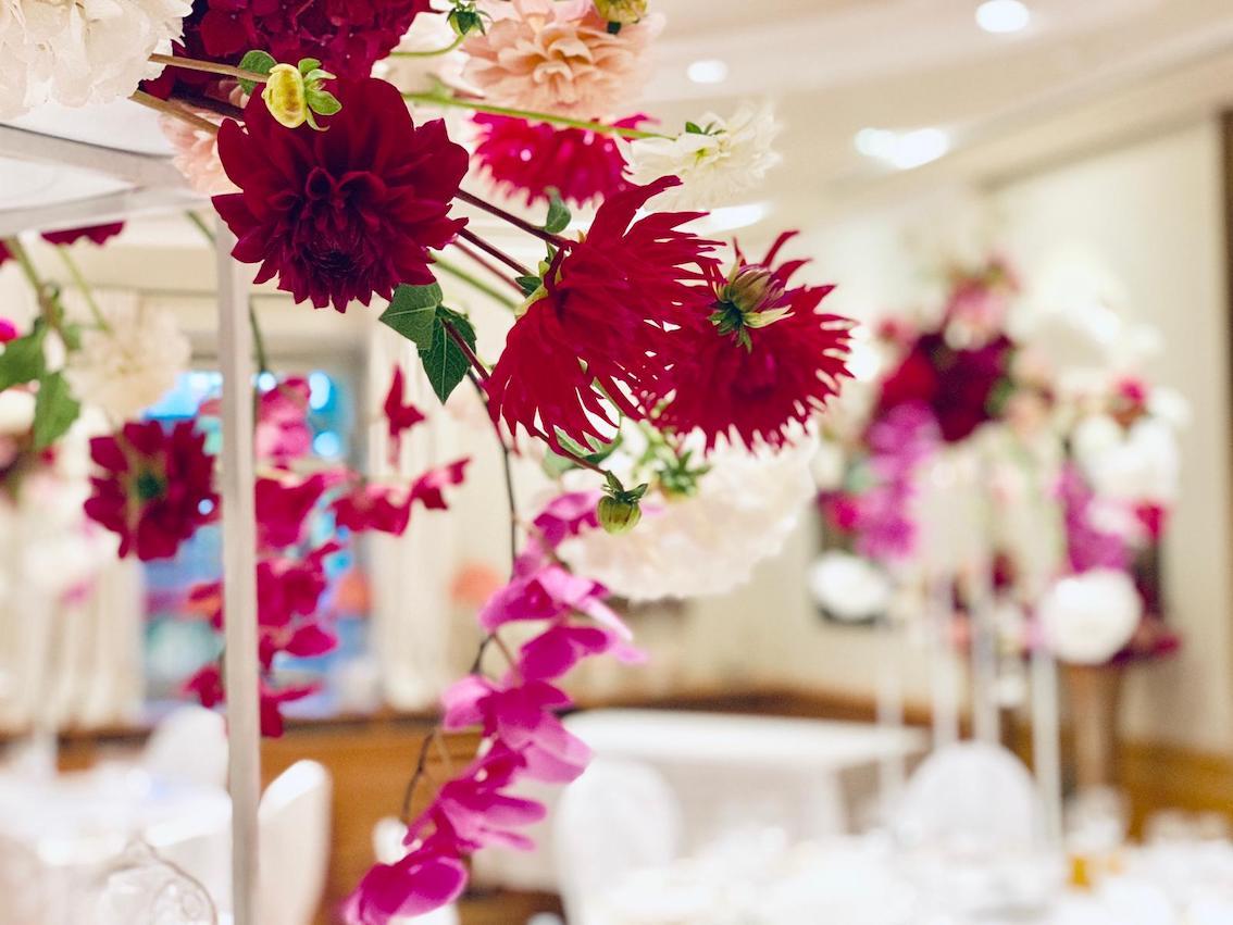 Hochzeitsfloristik Orchideen Tischdeko