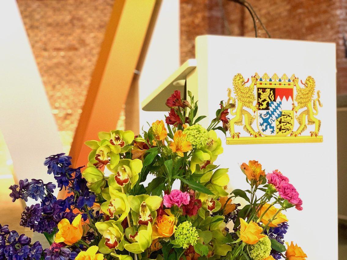Blumendeko München bei Staatsregierung