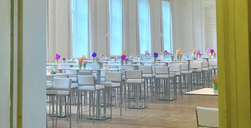 Blumendeko in bayerischen Staatsregierung