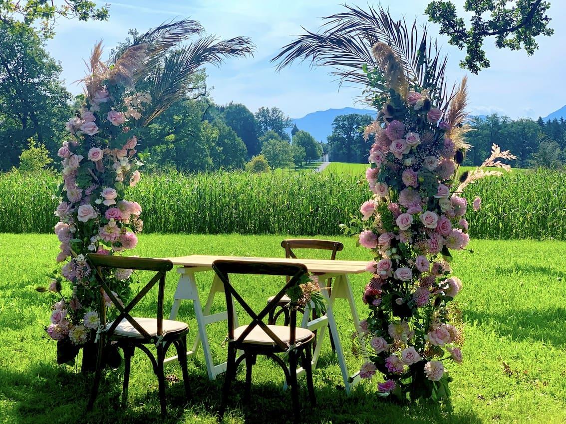Blumen Hochzeitsbogen